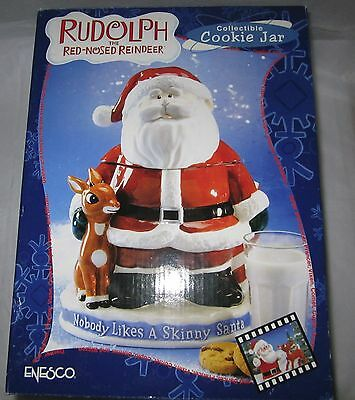 Enesco Rudolph and the Island of Misfit Toys Santa Collectible Cookie Jar NEW