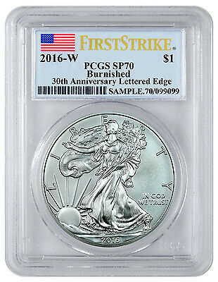 2016-W Burnished American Silver Eagle PCGS SP70 FS (Flag Label) SKU44325