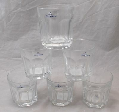 Villeroy & and Boch BERNADOTTE 6x crystal old fashioned whisky tumbler glass NEW