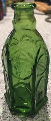 Vintage Wheaton Miniature Green Church Brand Ink Bottle