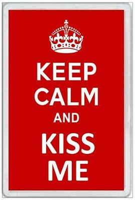 Jumbo Fridge Magnet - Keep Calm & Kiss Me -  Fun Novelty