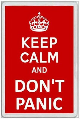 Jumbo Fridge Magnet - Keep Calm & Don't Panic -  Fun Novelty