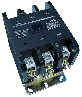 Definite Purpose Contactor HVAC 75 Amp 75A 3 Pole 24V 24 Volt Coil UL Listed