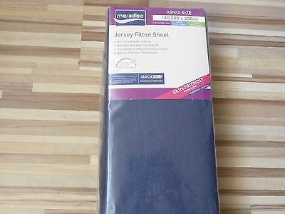 MERADISO JERSEY FITTED SHEET Size: 180-200 x 200 cm Dark Blue