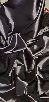 "1M dark grey dress COLOURED  TAFFETA  FABRIC 58/"" WIDE"