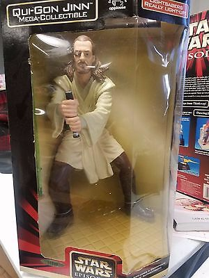 "STAR WARS EPISODE 1 MEGA COLLECTIBLE - QUI GON JINN 12"" FIGURE by APPLAUSE"