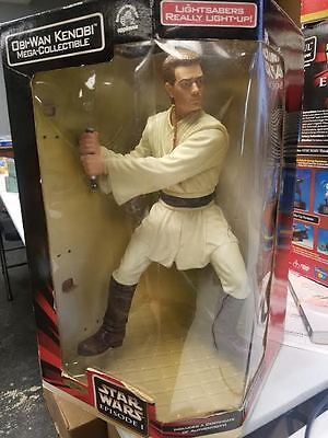 "Obi Wan Kenobi 13"" Mega Collectible Star Wars Episode 1 Action Figure"