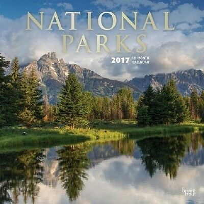 2017 National Parks 12 x 12 Monthly Wall Calendar Travel Nature Beautiful