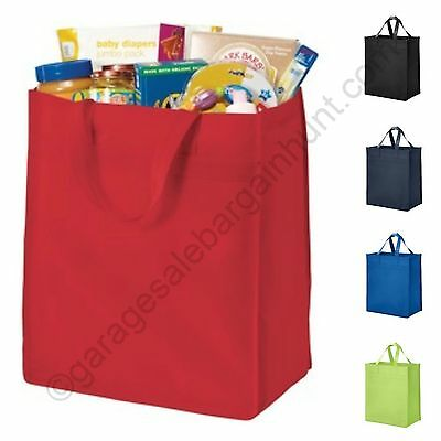 6 Lot Recycled Reusable Eco Friendly Grocery Shopping Tote Bag