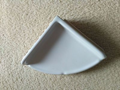 White Ceramic Corner Shelf For Tub And Shower  7-1/4 X 7-1/4