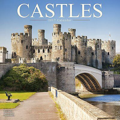 Castles - 2017 Wall Calendar World Moat Photography 16 Month Large