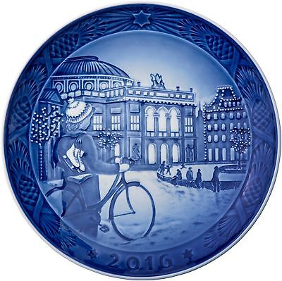 New 2016 Royal Copenhagen Rc Christmas Plate New In Box In Stock Ice Skating