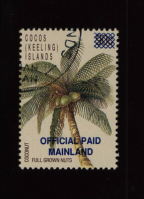 Australia Cocos Island Stamp - 1990 Official Emergency Reprint CTO