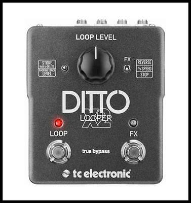 TC Electronic Ditto X2 Looper Guitar Effects Pedal - Stop Reverse Half speed
