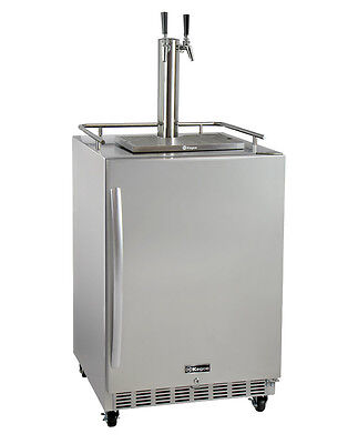 Kegco HK38SSC-2 2-Tap Commercial Outdoor Built-In Kegerator w/ Dispense Kit