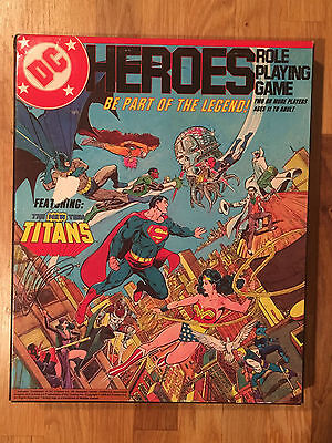 DC HEROES Role Playing Games * RPG * 1985 * Complete Unused NEW 1st Edition