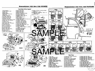 1946 1947 1948 1949 1950 1951 1952 1953 To 1955 Plymouth Body Parts Frame Sheets