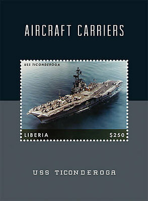 Liberia - Airplanes, Ships, Aircraft Carriers, 2012 - S/S MNH