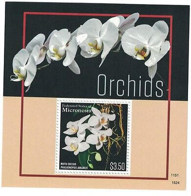 Micronesia - Flowers, Orchids, 2015 - S/S MNH