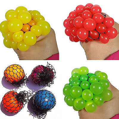 Anti Stress Face Reliever Grape Ball Autism Mood Squeeze Relief ADHD Toy COOL