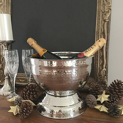 Silver Champagne Bucket/Small TUB/Wine Cooler/Ice Bucket/Metal/Great Gift Idea