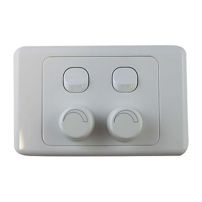 4 Gang Wall Plate with Switch & LED Light Dimmer Universal - SAA Approved