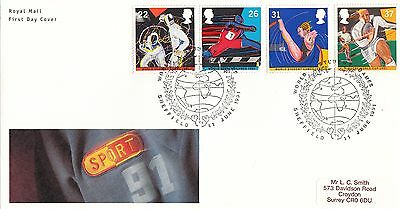 (23419) GB FDC Sport Rugby World Cup / Student Games Sheffield 11 June 1991
