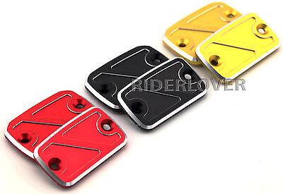 Front Brake Clutch Reservoir Covers Caps For Ducati Monster 659/696/796