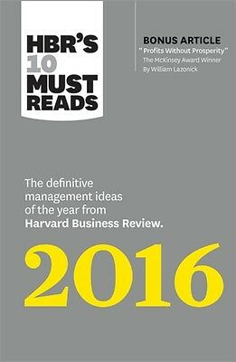 HBR's 10 Must Reads 2016 (Paperback), Harvard Business Review, 9781633690806