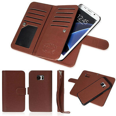 Luxury Leather 9 Credit Card Slot Flip Wallet Case for Samsung Galaxy S7/S8