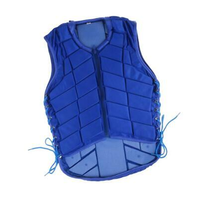 Horse Riding Equestrian Body Protector Safety Eventer Vest Blue for Kids Adult