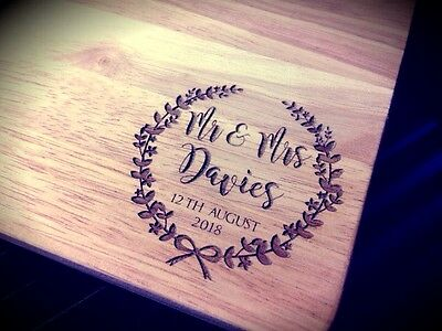 Personalised Wooden Chopping Cheese Bread Board, Wedding, Anniversary Gift