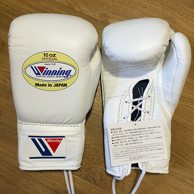 WINNING MS-300 10oz WHITE - Professional Sparring/Training Gloves - Grants Reyes