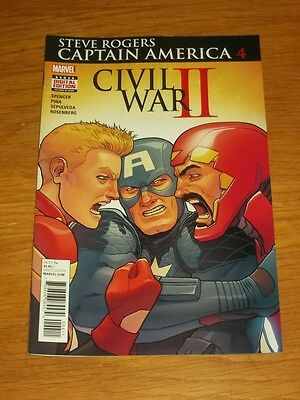 Captain America Steve Rogers #4 Marvel Comics Civil War Ii Nm (9.4)