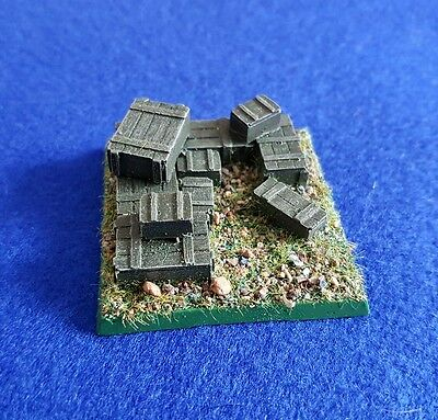 28mm WW2 Bolt Action style Ammo Dump painted (Resin)