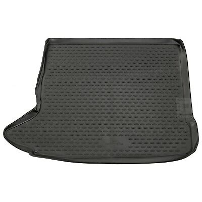 Audi Q3 11-17 (Raised Boot) Rubber Boot Liner Tailored Fitted Black Floor Mat