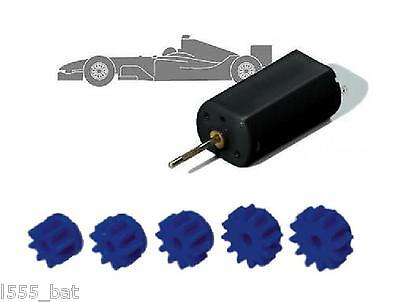 Scalextric Sport+ C8403 5x Pinion Gears 8 9 10 11 12 Tooth For F1/Bike FF Motors