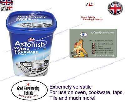 new Astonish Oven and Cookware Pans Sink Tiles Cleaner Paste Removes Grease 500g