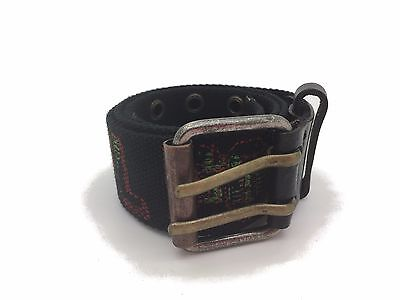 "Diesel Boys Belt Canvas Kids Balf Black Size 23""-27"" RRP £35"