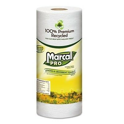 Marcal® 100% Premium Recycled Perforated Towels, 11 x 9, White, 70/Roll