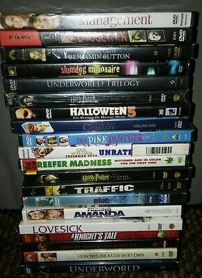 Mixed Lot 20 DVDs Movies