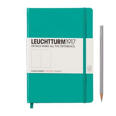 Leuchtturm1917 Notebook Medium A5 Dotted - Emerald Green Hardcover Book