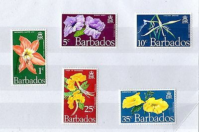 Barbados 1970 Mint Set Flowers MNH X4861