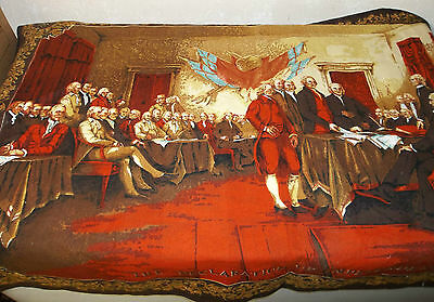 Vtg 200 year Anniversary Signing the Declaration of Independence Tapestry/58X40