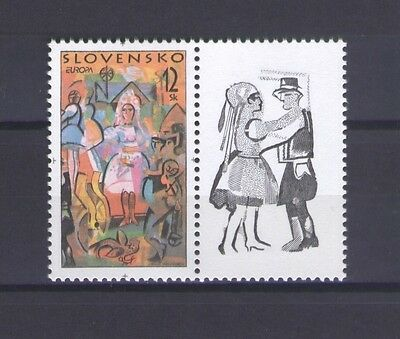 SLOVAKIA, EUROPA CEPT 1998, NATIONAL FESTIVALS, MNH (with Label)