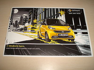 "Smart Fortwo Edition ""cityflame"" Coupe & Cabrio Uk Sales Brochure November 2012"