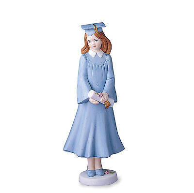 Growing Up Girls Brunette Graduation Figurine