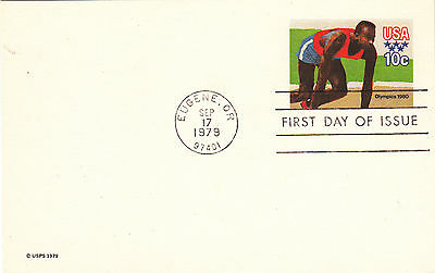 (23116) USA 1979 Olympics - Postal Stationery First Day of Issue