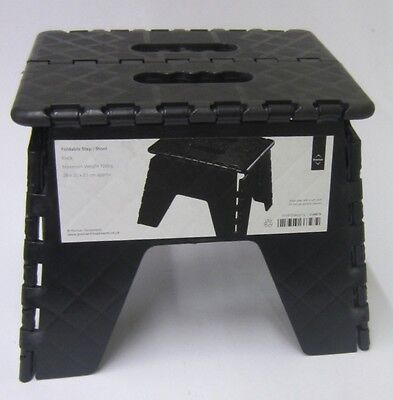 Premier Housewares Black Foldable Step/Stool 0016
