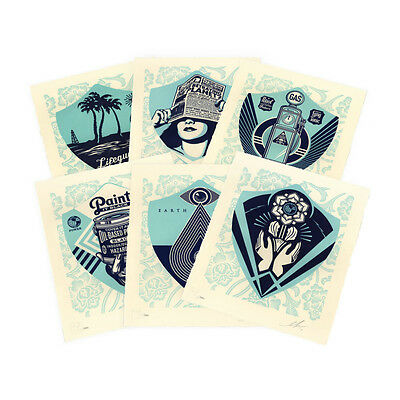 Shepard Fairey / Obey Giant・EARTH CRISIS Letterpress Print SET! Matching Numbers